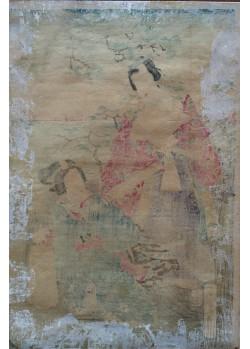 estampe japonaise Kunisada II Utagawa La présentation de l'enfant au temple