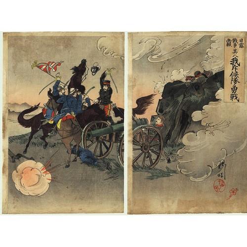 Scène de la guerre russo-japonaise