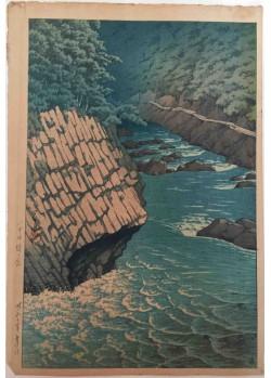 Hasui Kawase - estampes japonaises shin hangaRivière à Hakkoda