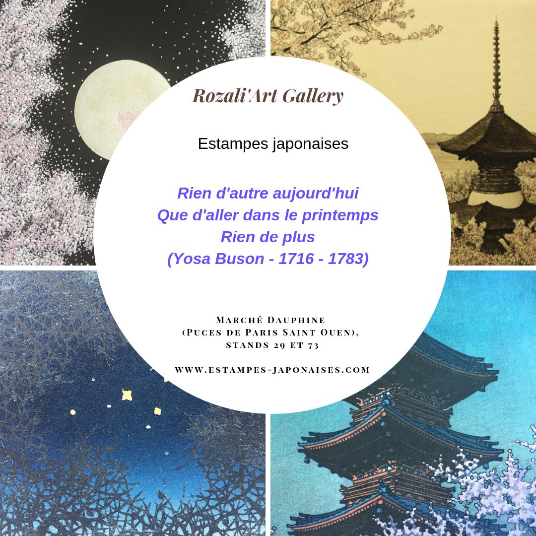 exposition estampes japonaises shin hanga sosaku hanga et ukiyoe par Rozali'Art Gallery