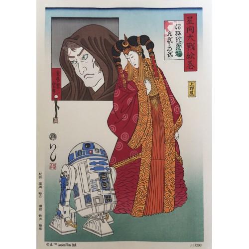 Star Wars - Princesse Amidala - R2D2 et Luke Skywalker
