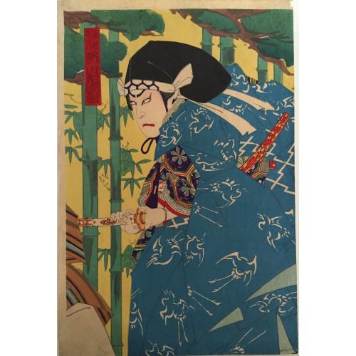 estampes japonaises l'aristocrate Togashi Zaemon