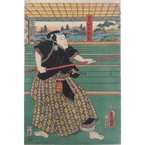 estampes japonaises Kunisada Utagawa Honda Dainaiki