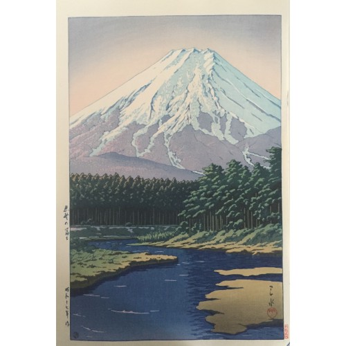 Le mont Fuji vu d'Oshino