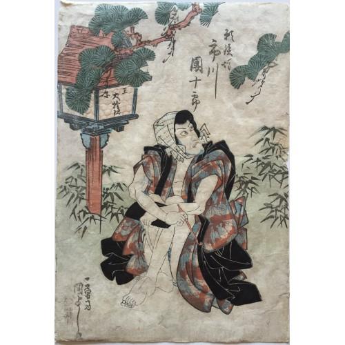 estampe japonaise Kuniyoshi Utagawa Negai Tetsubo