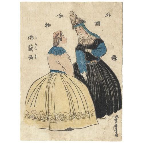 estampes japonaises Yoshitora Utagawa Femmes françaises