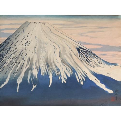 Vue sud du Mont Fuji au début du printemps