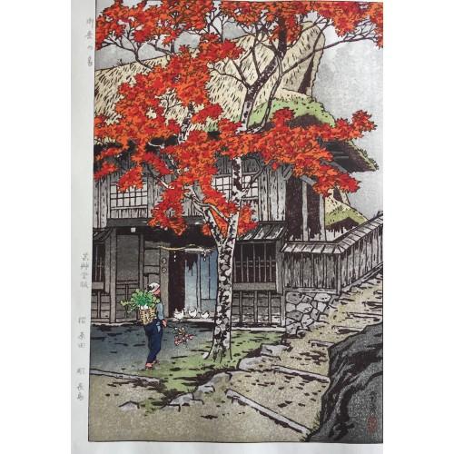 La maison de Mitake à l'automne
