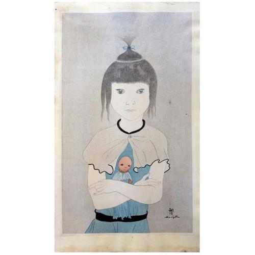 Leonard Foujita l'enfant à la poupée