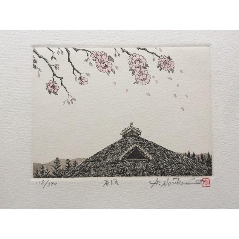 estampe japonaise de Norikane Hiroto vent de printemps
