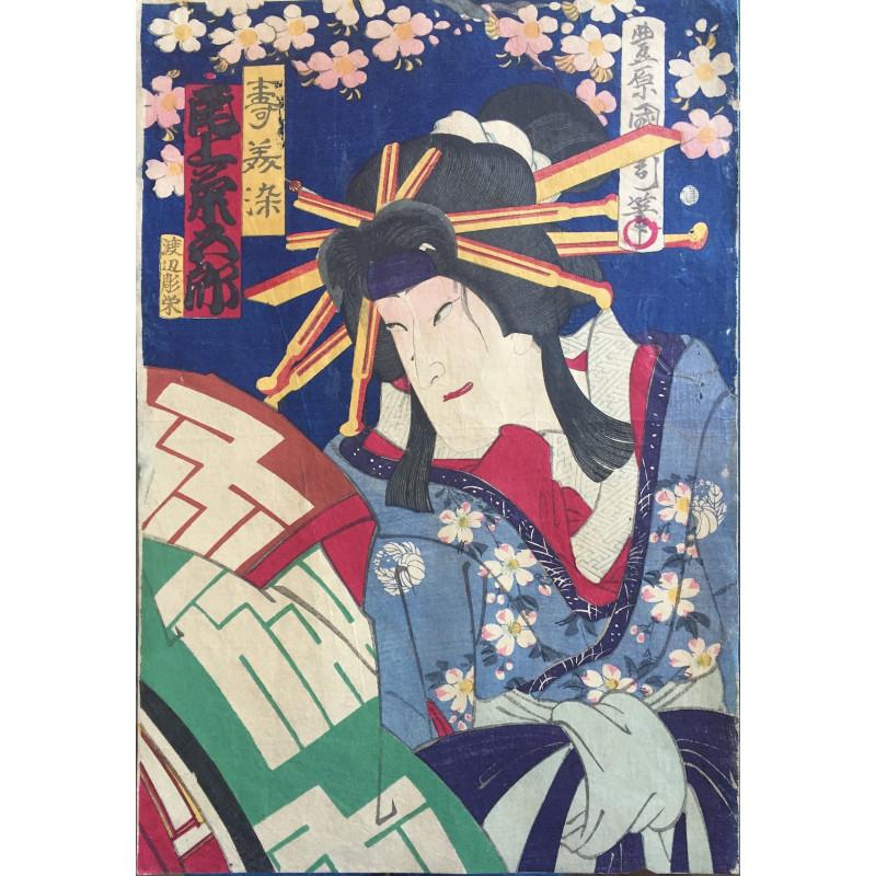 estampe japonaise ukiyoe de Kunichika Toyohara Onoe Kumigoro