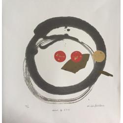 Litographie japonaise de Osamu Tatematsu l'esprit du Zen