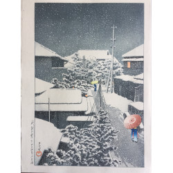 Hasui Kawase - Neige à Daichi