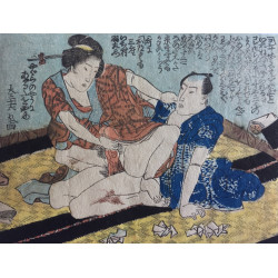 estampe japonaise ukiyoe érotique shunga en vente à Paris chez Rozali'Art Gallery
