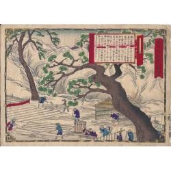 Hiroshige III - Le blanchiement du linge à Echigo
