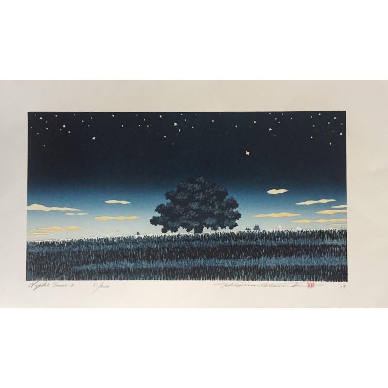 estampe japonaise de Hajime Namiki scène de nuit 2