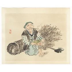 Kono Bairei - Le bucheron
