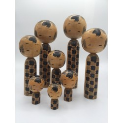 kokeshi de style naruko rare famille complète de 3 générations