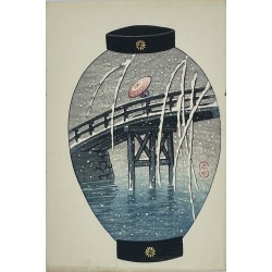 Hasui Kawase - Le pont Yanagi
