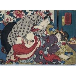 shunga ou estampe érotique japonaise de l'époque Edo