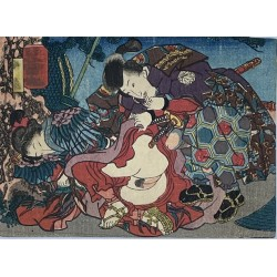 authentique estampe japonaise shunga