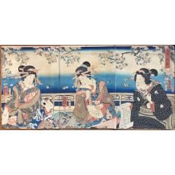 Kunisada II - Sur les bords de la Sumida
