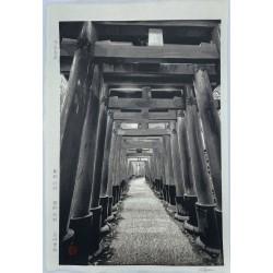 Kitamura Shoichi les 1000 torii du sanctuaire Fushimi Inari véritable estampe japonaise