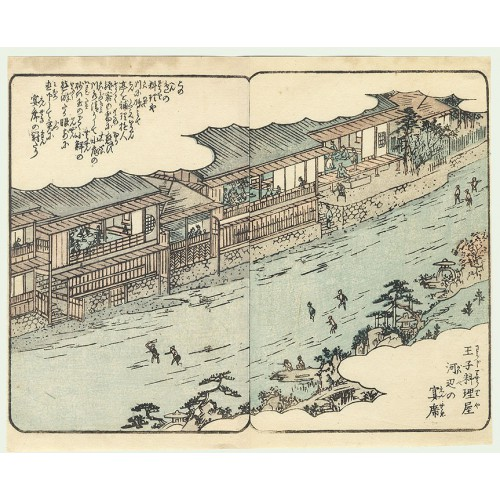 Teahouses along the water's edge