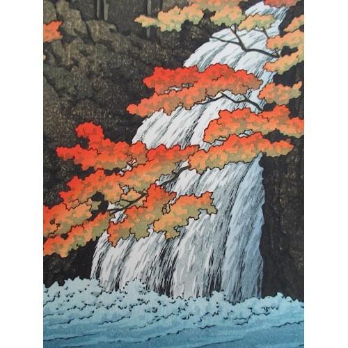 Hasui Kawase - La cascade Senju à Akame
